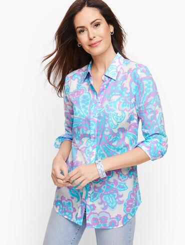 Classic Cotton Shirt - Bold Paisley