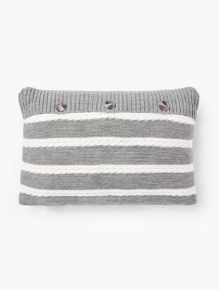Cable Stripe Pillow