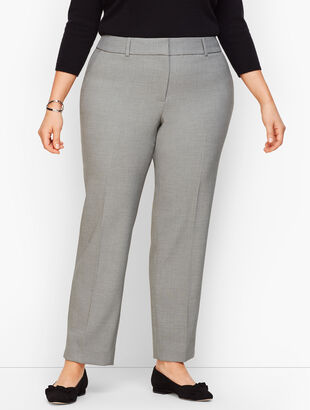 Plus Size Talbots Hampshire Ankle Pants - Curvy Fit - Light Mist Heather