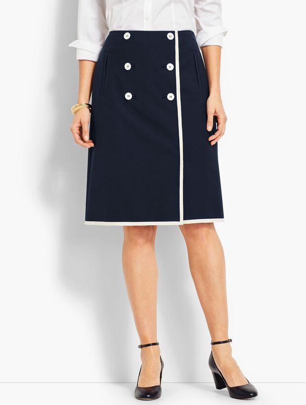 Double-Weave Faux-Wrap Skirt