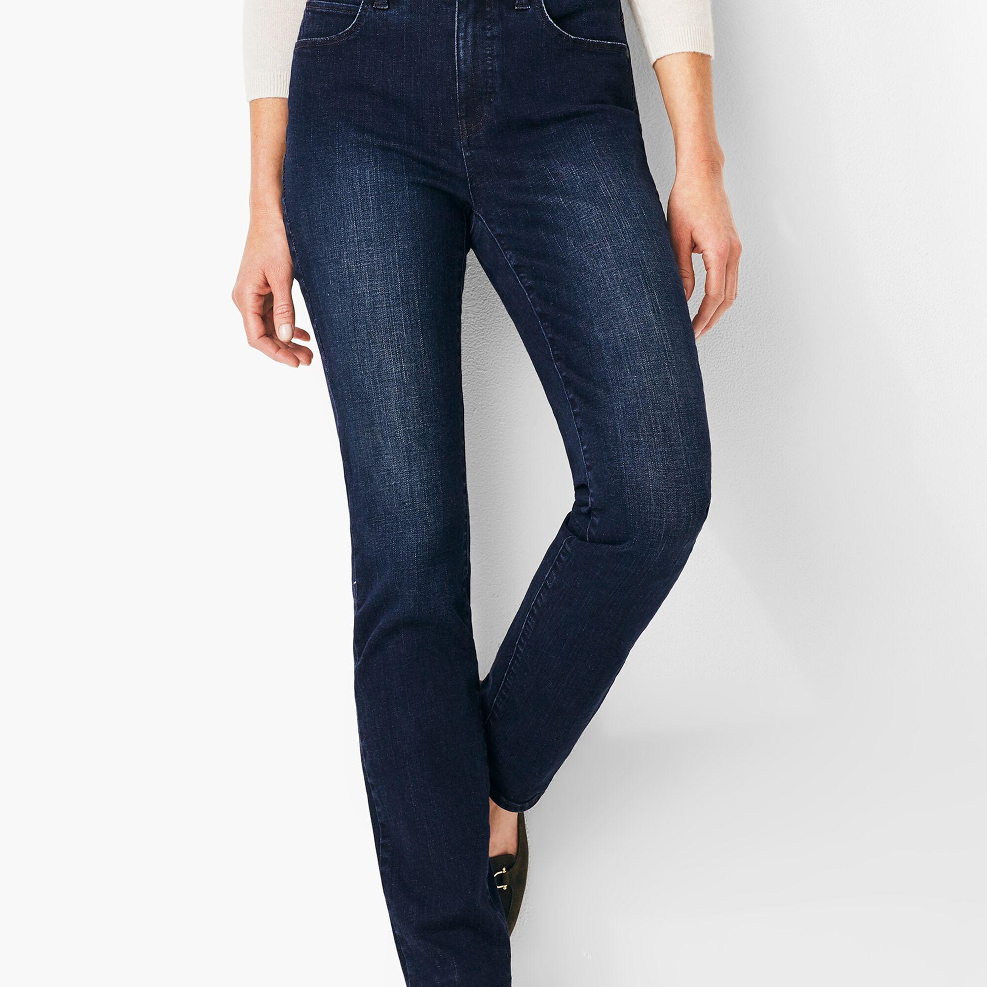 7a9a663b3 High-Waist Straight-Leg Jeans - Marco Wash Opens a New Window.