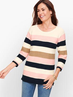 Riviera Stripe Pima Cotton Sweater