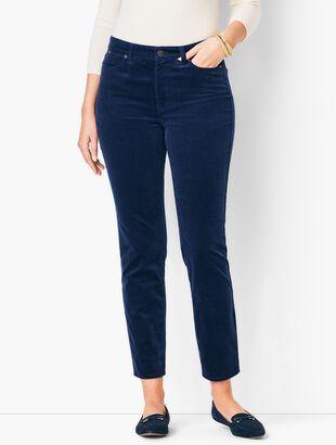 Slim Ankle Pants - Cords - Curvy Fit