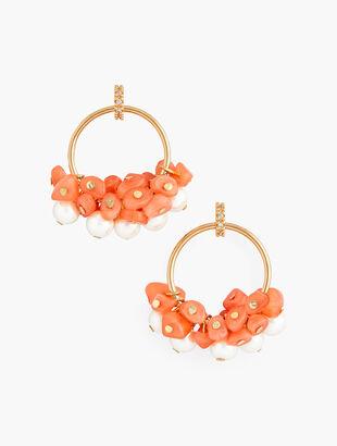 Beach Beads Hoop Earrings