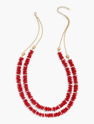 Coral Reef Double-Layer Necklace