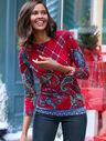 Paisley & Plaid Merino Sweater