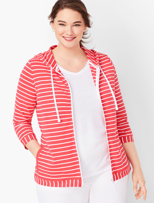 Stripe Terry Hoodie