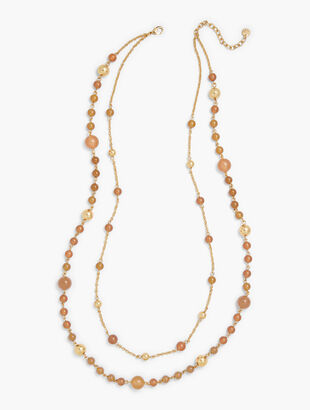 Beaded Double-Layer Necklace