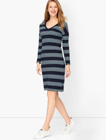 V-Neck Cotton Modal Dress