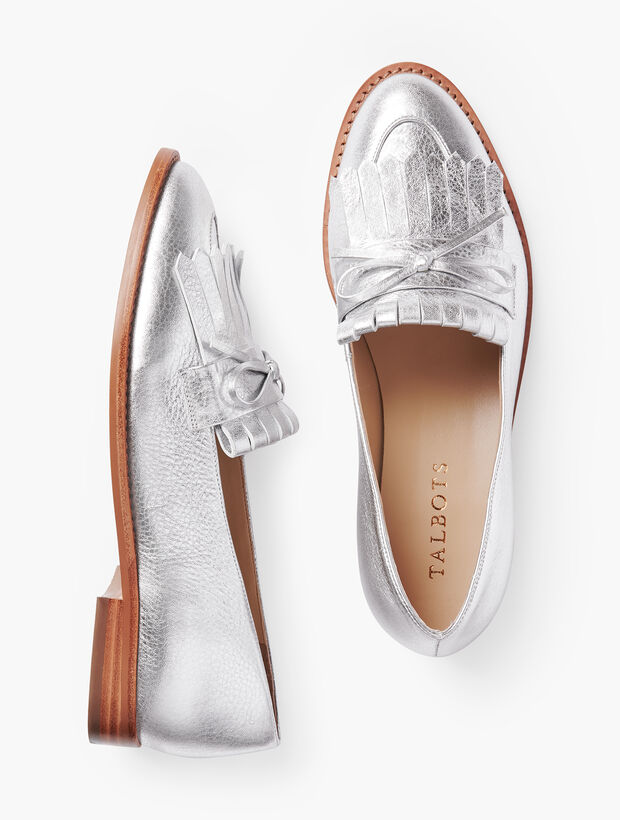 Leighton Kiltie Loafers - Pebbled Leather