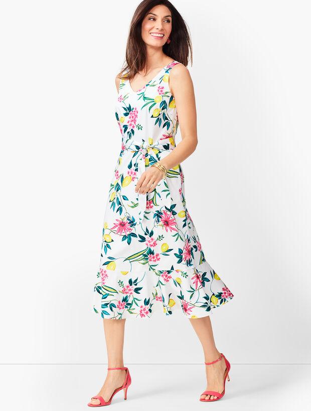 Lively Lemon Fit & Flare Dress