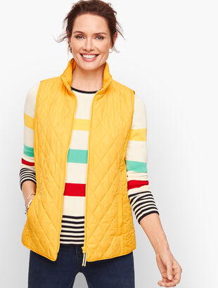 Diamond Quilted Vest - Solid