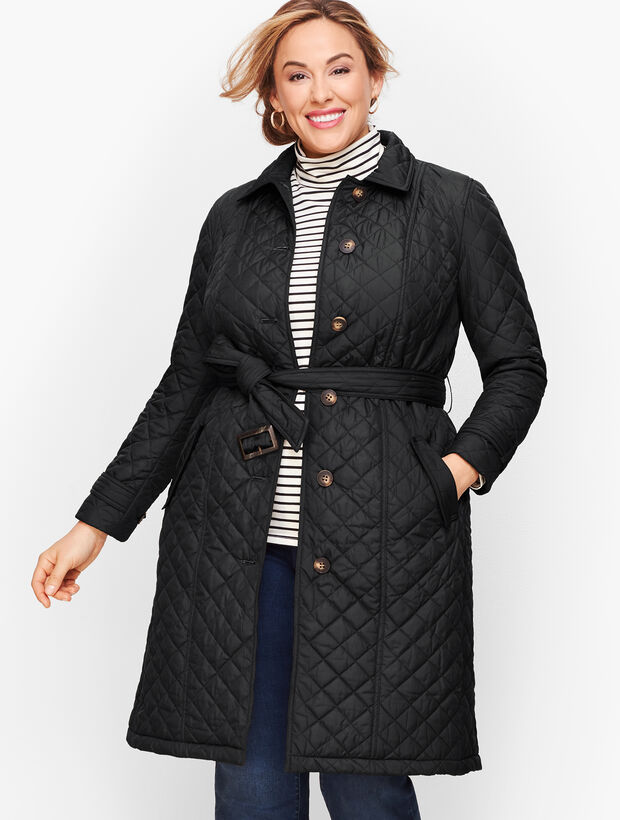 Quilted Belted Coat