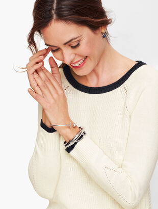 Tipped Rib Stitch Sweater
