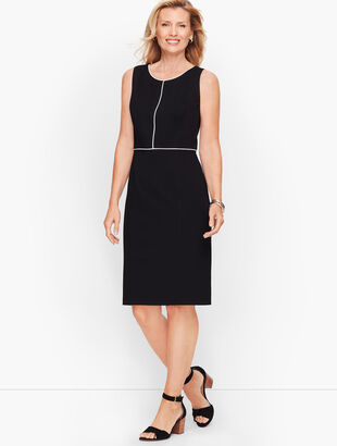 Italian Luxe Knit Tipped Sheath Dress