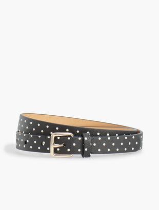 Dot Faux-Leather Belt