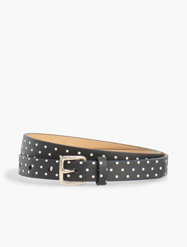 Plus Size Dot Faux-Leather Belt