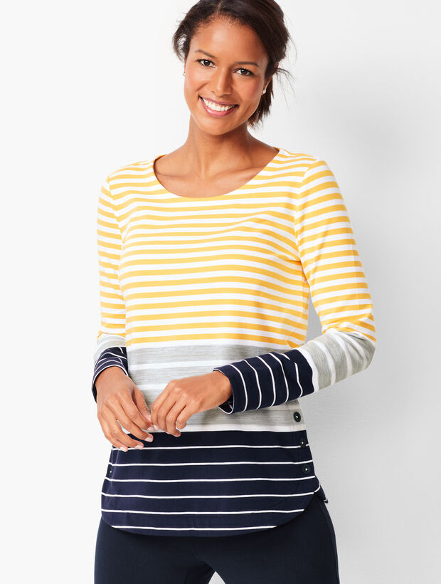 Tri-Color Stripe Top