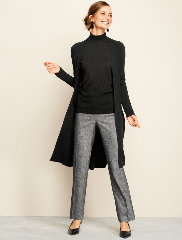 Polished Straight-Leg Pant - Donegal Herringbone