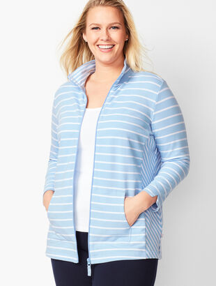 Mixed-Stripe Jacket