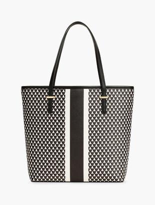 Hearts & Stripe Novelty Tote Bag