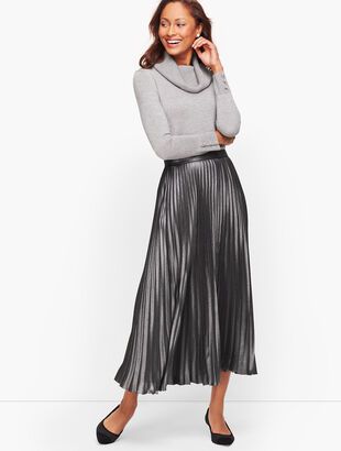 Pleated Skirt - Foil