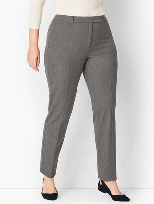 Bi-Stretch High-Waist Straight-Leg Pants - Melange
