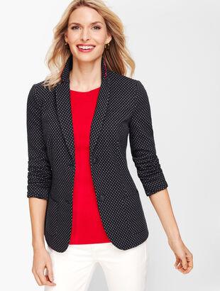 Aberdeen Knit Blazer - Foulard Ponte