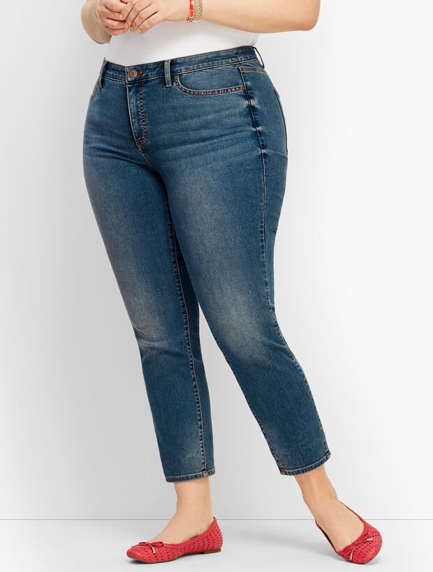 a73adbbedd4 Plus Size Denim Slim Ankle Jean - Baxter Wash