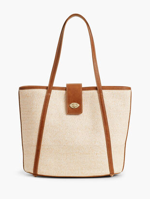 Packable Paper-Straw Tote Bag