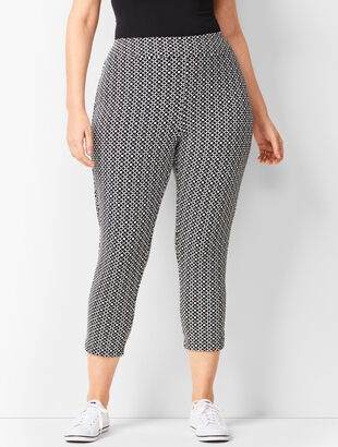 Everyday High-Waist Yoga Crops - Abstract Tile