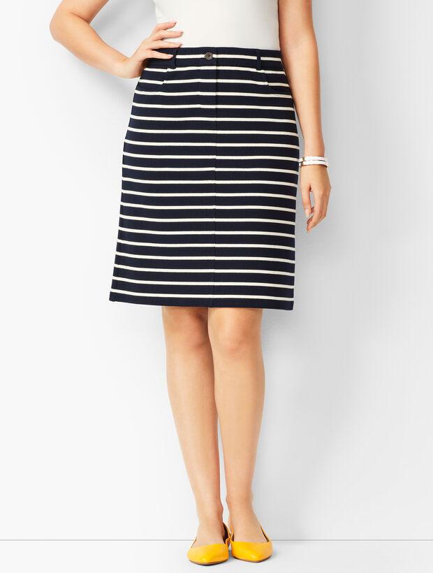 Stripe Knit Skirt