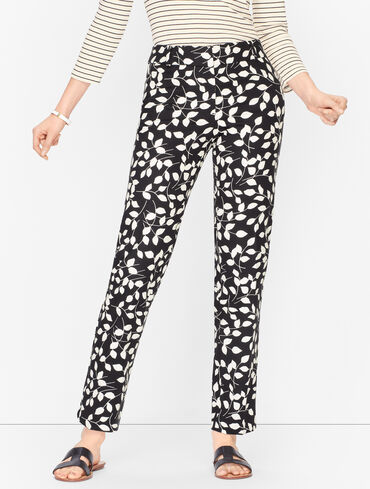 Talbots Hampshire Ankle Pants - Abstract Leaves - Curvy Fit