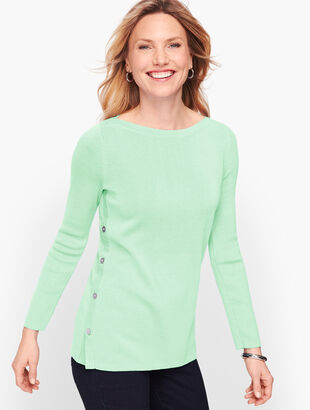 Side Button Sweater