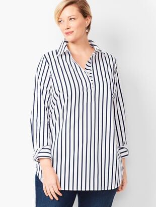 Cotton Poplin Tunic - Stripe