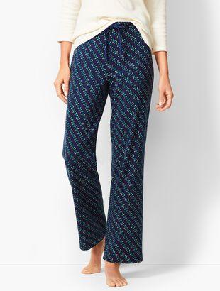 Drawcord Pajama Pant - Holiday Lights