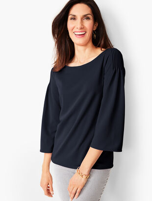Pintuck Shoulder Top