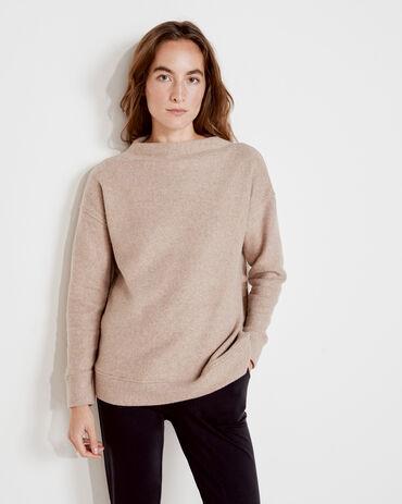 Funnel Neck Fleece Pullover