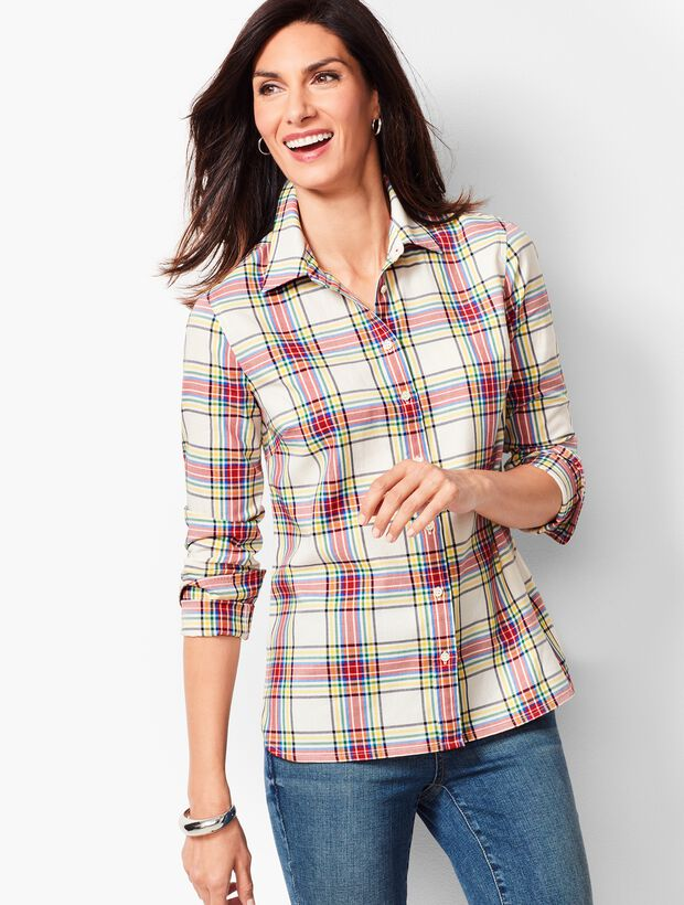 Classic Cotton Shirt - Windowpane Plaid
