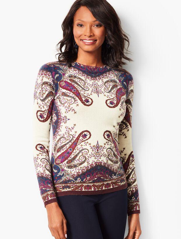 Audrey Cashmere Sweater-Paisley