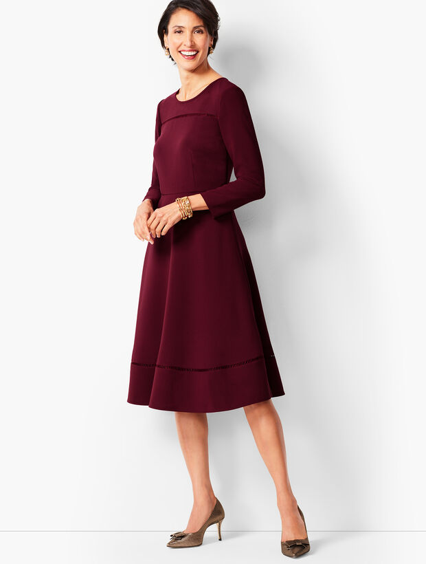 Crepe Fit and Flare Dress
