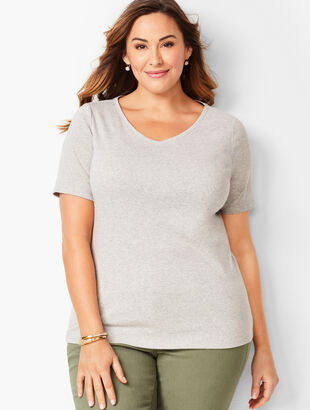 Heathered V-Neck Tee