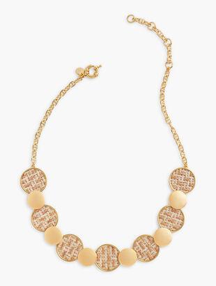 Basketweave Short Necklace