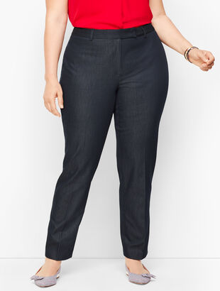 Cotton Bi-Stretch Pants - Polished Denim