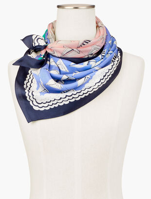 Colorblock Beach Square Scarf