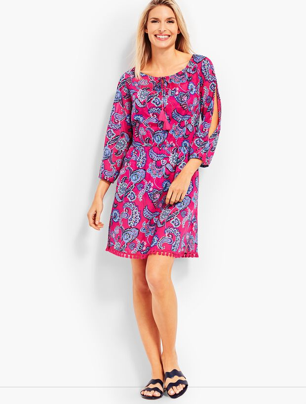 Cold Shoulder Cover-Up-Pop Paisley