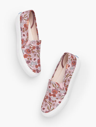 Keds® Double Decker Slip-On Sneakers - Groovy Floral