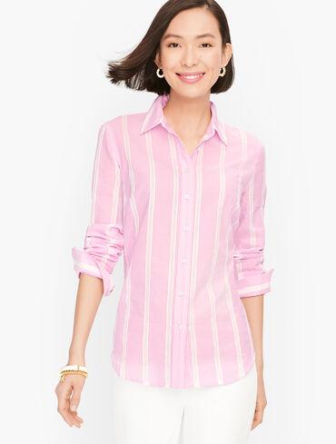 Classic Cotton Shirt - Delicate Stripe