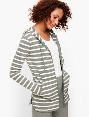 UPF 50+ Slub Terry Hooded Jacket - Stripe