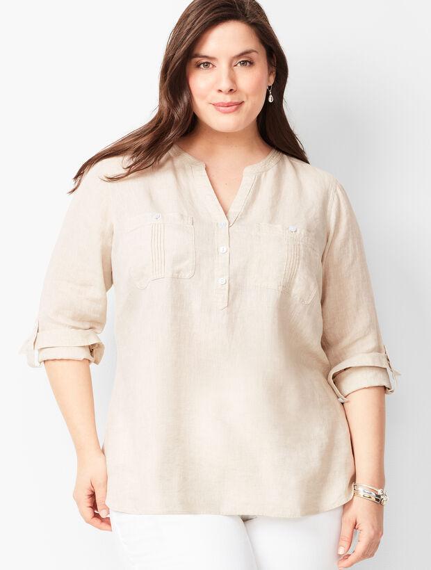 Linen Camp Shirt - Oatmeal